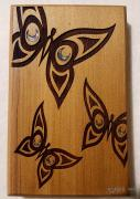 Butterfly Native Design Mini Cedar Wall Plaque
