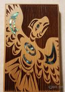 Thunderbird Native design Mini Cedar Wall Plaques